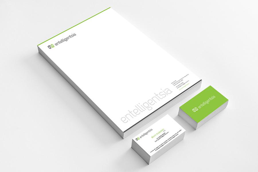 Entelligentsia Logo & Stationary Design